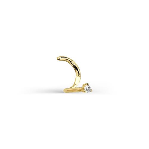 Пирсинг в нос из Жёлтого золота с Бриллиантом