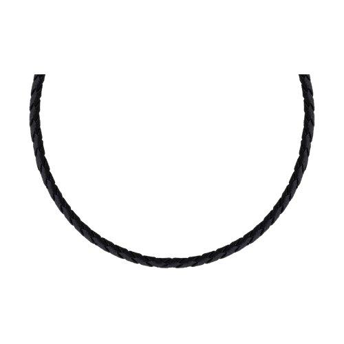 Кожаный шнурок с серебряным замком